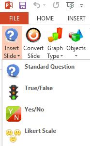 PowerPoint EZ-VOTE Insert Slide Menu