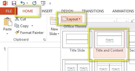 PowerPoint EZ-VOTE Slide Title & Content Layout